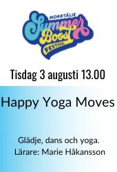Happy yoga summer boost